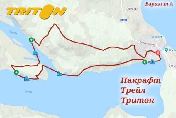 Схема маршрута трейла